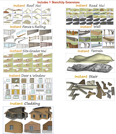 SketchUp Extensions | Vali Architects | Instant Scripts